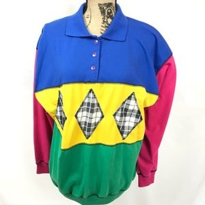 Vintage Lady C.A. Sport Colorblock Pullover